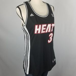 adidas Miami Heat Dwyane Wade #3 Ladies Jersey